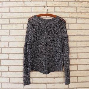 Lucky Brand Black Open Weave Metallic Sweater XL